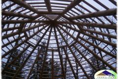 Krovová konstrukce v 2. Etapě Africké vesnice