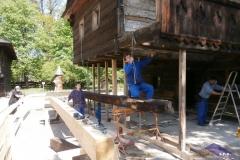 Oprava Billového domu ve Skanzenu