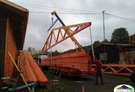 20 metrové vazníky do Mořkova