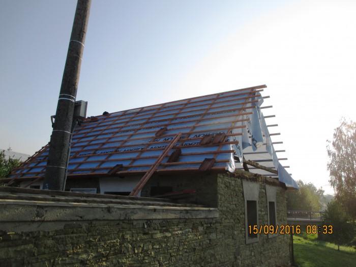 Střecha na márnici v Liptále