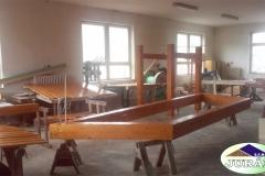 Altán a dřevěné ploty na Návsi v Leskovci