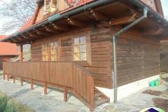 Dřevěnice v Pržně před napojením
