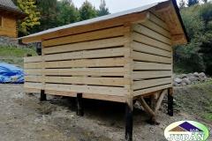 Roubená sauna v Malých Karlovicích