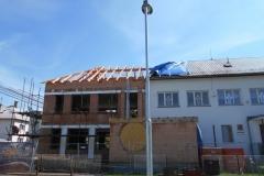 Střešní konstrukce na ZŠ Ratiboř