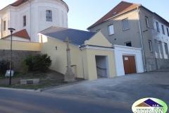 Střešní kce schodiště u Kostela v Určicích
