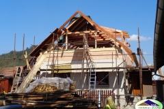 Střešní konstrukce v Leskovci