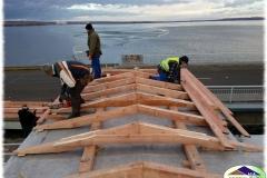 Dřevěná střešní kce na VD Nové Mlýny