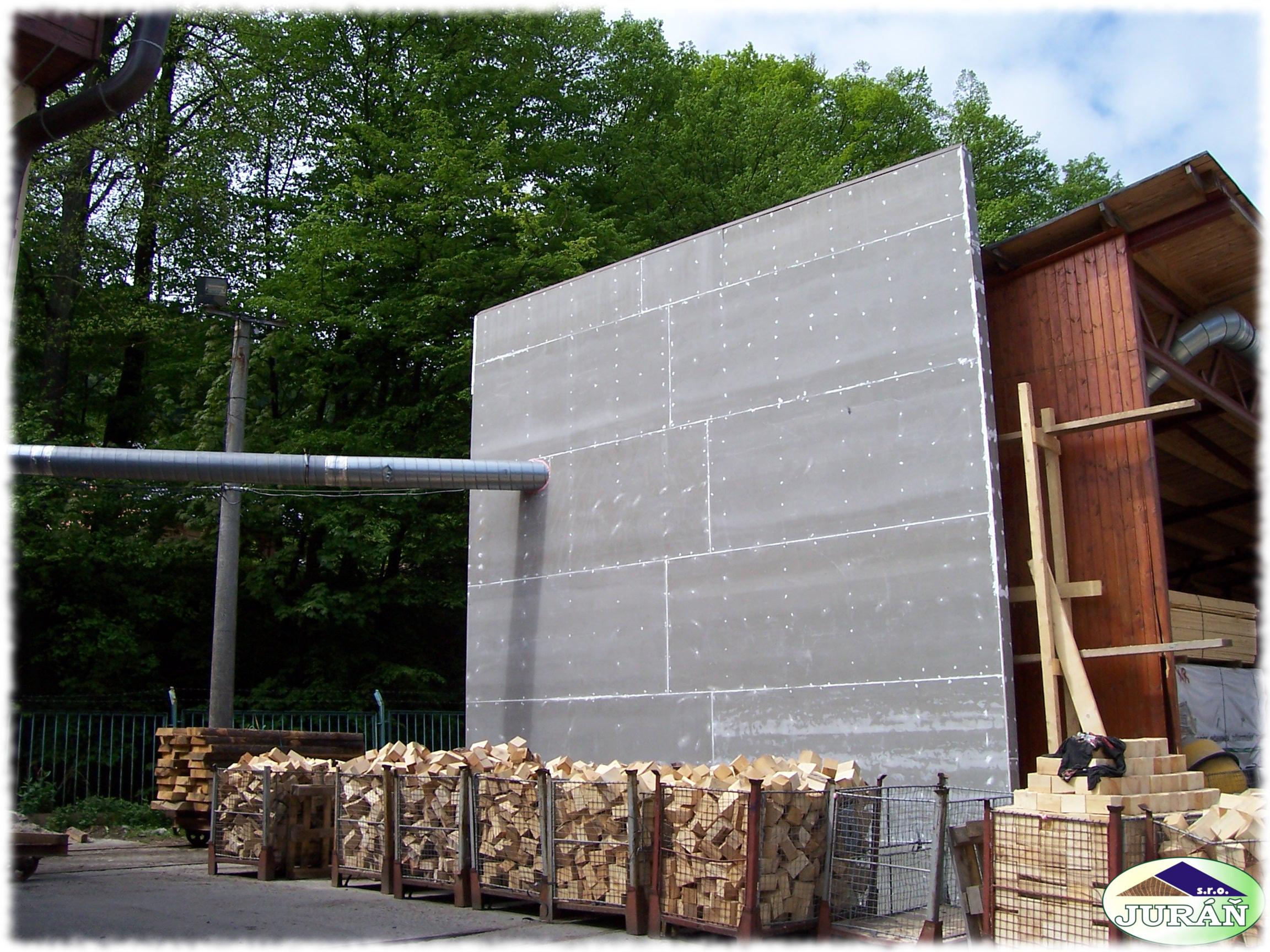 Protipožární stěna ve firmě Vráblík v Prlově